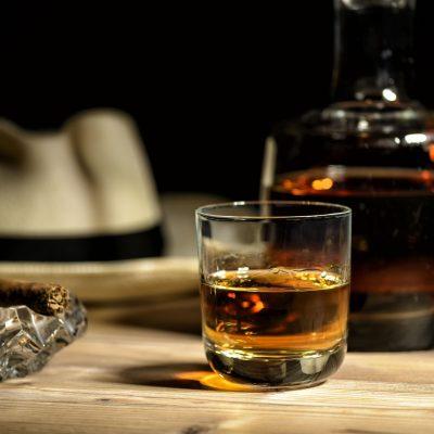 glas of rum in a bar in Cuba